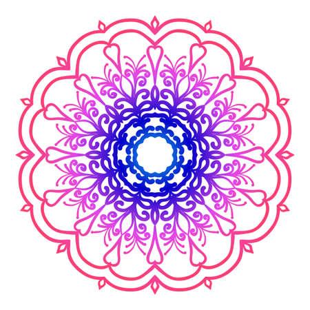 A creative anti-stress ornament vector illustration blue, purple color.