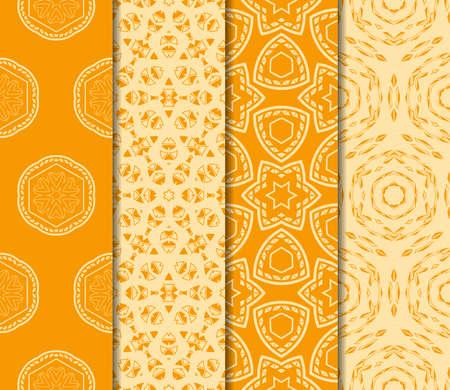 Conjunto de adornos florales. Patrón transparente de vector Decoración de interiores, papel tapiz, invitación, diseño de moda. Ilustración de vector
