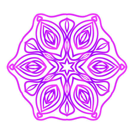 Floral Mandala in Purple color.