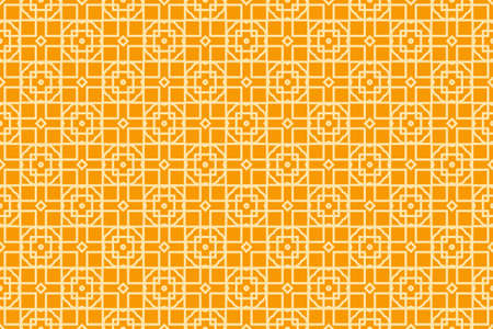 Seamless illustration from the transformation of geometric shape in orange colors.