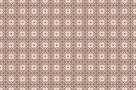 Seamless pattern illustration with the transformation of geometric shape.