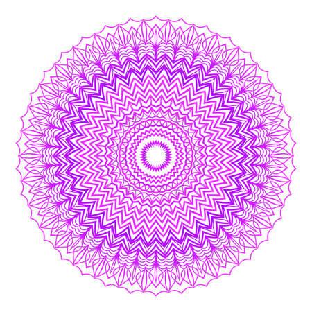 Mandala vector illustration. Ethnic Circle Ornament. Purple color for coloring book, greeting card, invitation, tattoo. Illustration