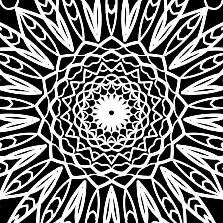 Hand drawn oriental floral pattern kaleidoscope background