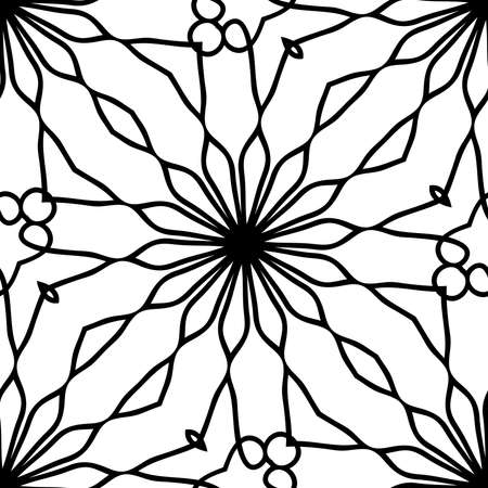 abstract seamless background with lace geometric floral ornament. vector illustration