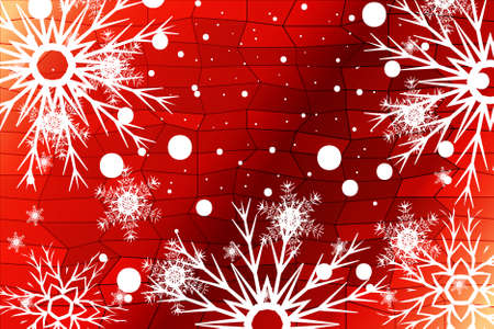 New Year background. White snowflakes, vector illustration. Merry Christmas and Happy New year theme.