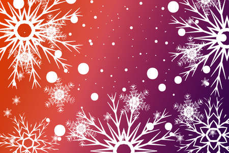Christmas Background with snowflake. Abstract Vector Illustration.