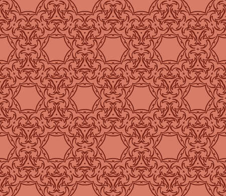 Abstract seamless geometric pattern with floral shape. Vettoriali