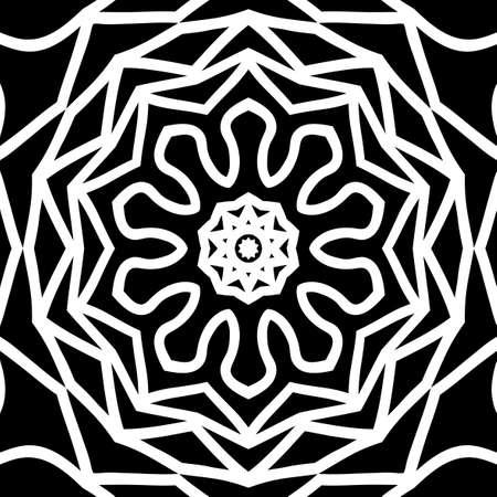 oriental floral pattern. vector illustration. hand drawn kaleidoscope background Illustration