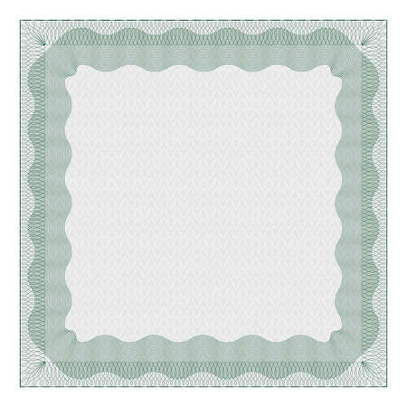 Template of gray color voucher background with guilloche pattern. Watermark layer for certificate, voucher, money design. vector illustration