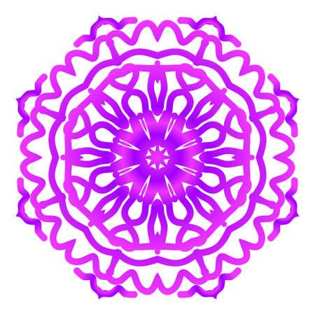 Mandala. Vector illustration. Ethnic Circle Ornament. Purple color. for coloring book, greeting card, invitation, tattoo.