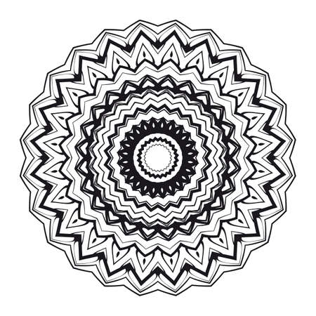 Abstract floral geometric mandala for coloring. vector illustration Illustration