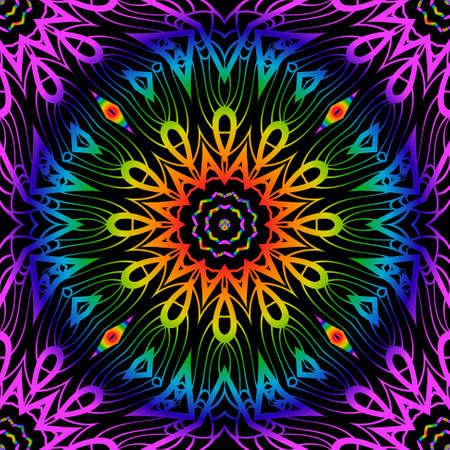 Floral lace geometric ornament. Illustration