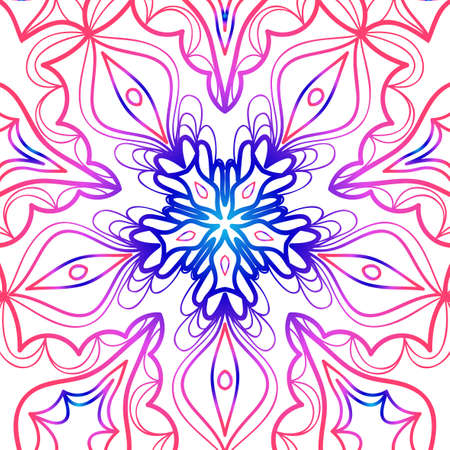 Vector vintage floral pattern. oriental ornament. mandala concept. vector illustration. for coloring book, greeting card, invitation, tattoo. Anti-stress therapy pattern.