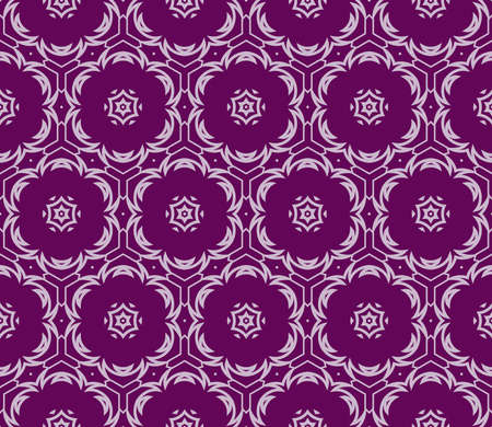 Purple color decorative geometric seamless pattern vector for fabric print, wallpaper.