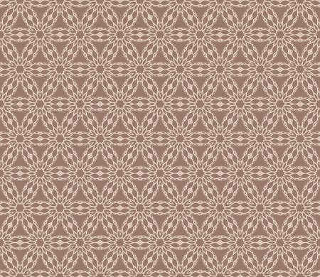 Vintage decorative ethnic floral ornament. Vector illustration. Oriental design for print, wallpaper, decor, fabric and textile in beige color. Illustration