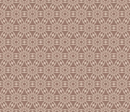 Vintage decorative ethnic floral ornament. Vector illustration. Oriental design for print, wallpaper, decor, fabric and textile in beige color. 向量圖像