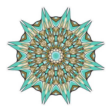 Circle pattern mandala images illustration