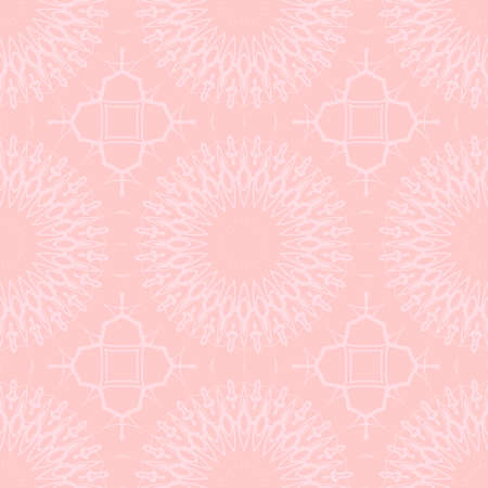 Beautiful lace pattern, flower vector background. wedding seamless pattern for invitation with geometric floral ornament Illustration