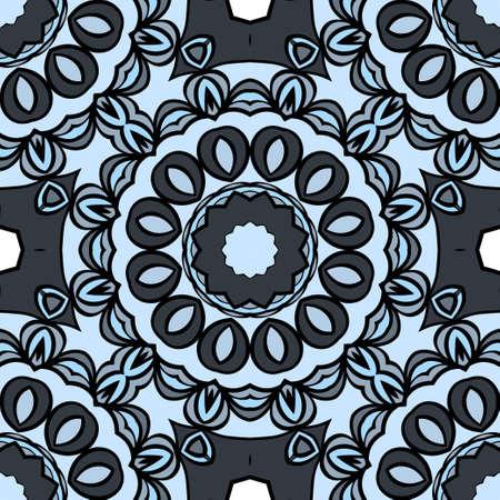 Seamless Floral mandala ornament. vector design element for print, fabric, wallpaper