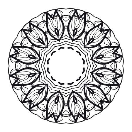 Mandala of abstract flowers. vector illustration. lace pattern