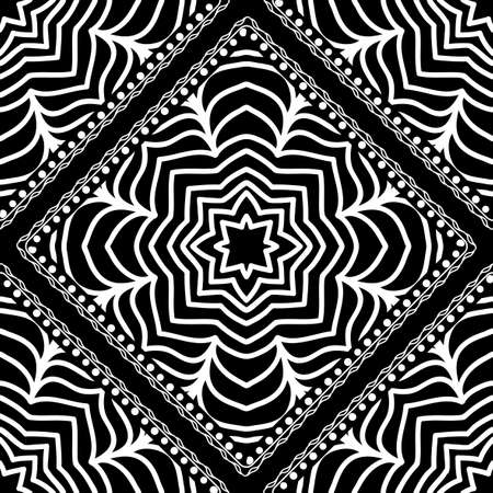 Close-up lace seamless pattern. Black and white. Vector. For scrapbooking, wallpaper, cases for smartphones, print, surface texture, pillows, bags.  イラスト・ベクター素材