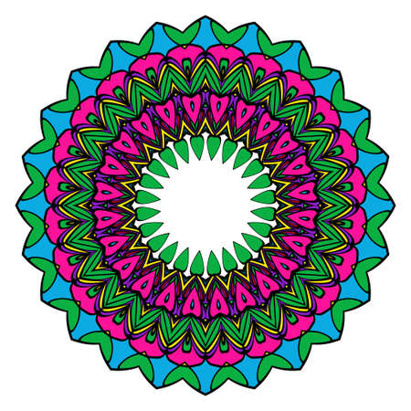Mandala spiritual symbol. Decorative round ornament. Anti-stress therapy pattern. Hand drawn vector frame design. Stock Vector - 98891209