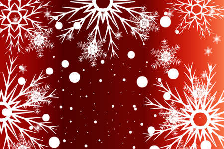 New Year background. White snowflakes, vector illustration. Mery Christmas and Hapy New year theme.