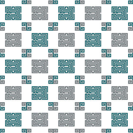 seamless pattern, made of pixels. Vector illustration. For the design, printing, textile industry. Vettoriali