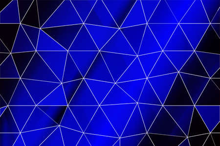 dark blue gradient polygonal background with small triangle cell. vector illustration. for business design, wallpaper Illustration