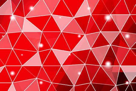 dark red gradient polygonal background with small triangle cell. vector illustration. for business design, wallpaper