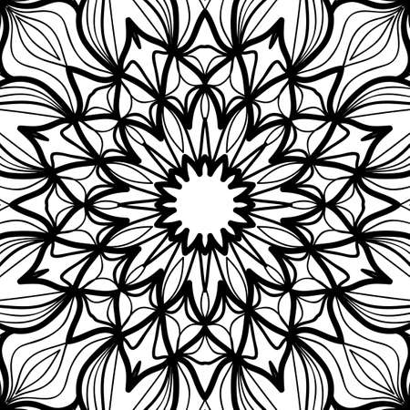 Oriental floral pattern. Vector illustration. Hand drawn henna mehendi background.