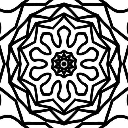 Floral mandala pattern. Vector illustration hand drawn henna india tribal paisley background.
