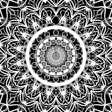 Floral mehendi pattern. vector illustration. hand drawn henna india tribal paisley background