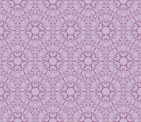 Beautiful geometric seamless pattern of different geometric shapes. vector illustration. purple color