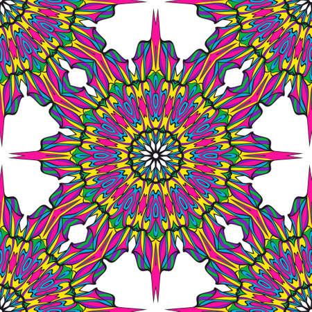 Modern decorative floral lace pattern.