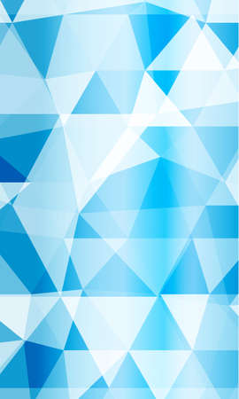 blue background image from the polygonal elements.  Abstract Vector illustration. Illustration