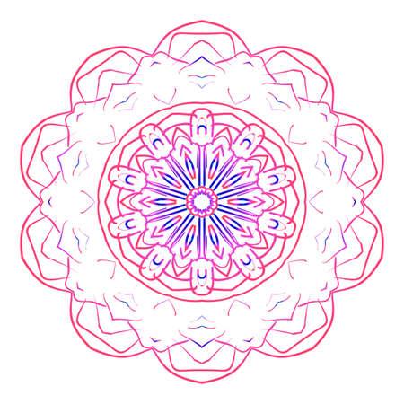 mandala creative anti-stress ornament.