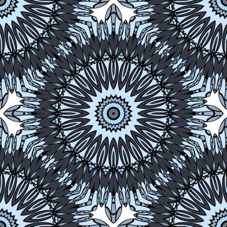 Fabric print for wallpaper colors floral ornament vector illustration.