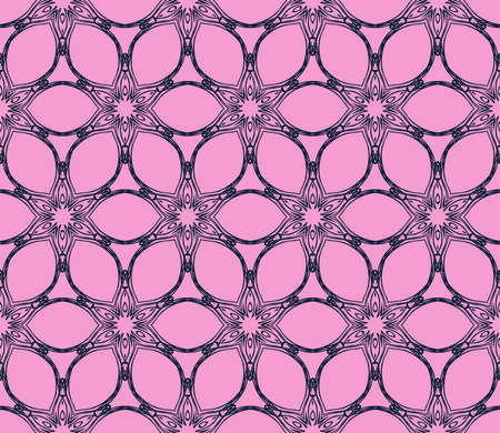purple ornament seamless vector illustration depicting an abstract floral pattern. for design, wedding invitations, textiles, presentations Illustration