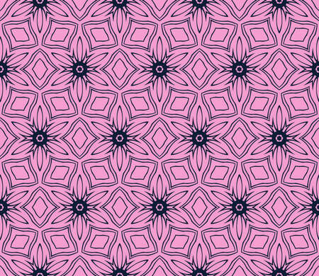 Purple ornament seamless vector illustration depicting an abstract floral pattern.