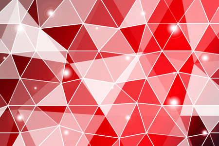 dark red gradient polygonal background with small triangle cell. Ilustração