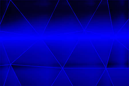 Dark blue gradient polygonal background with big triangle cell. Vector illustration for business design, wallpaper.