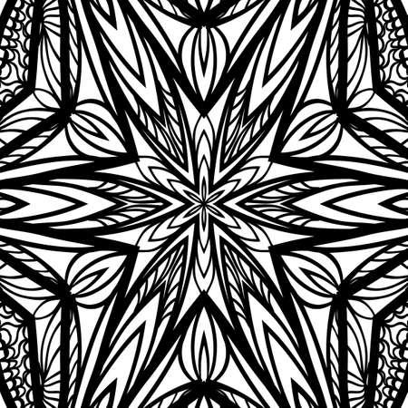 Floral mandala pattern vector illustration.