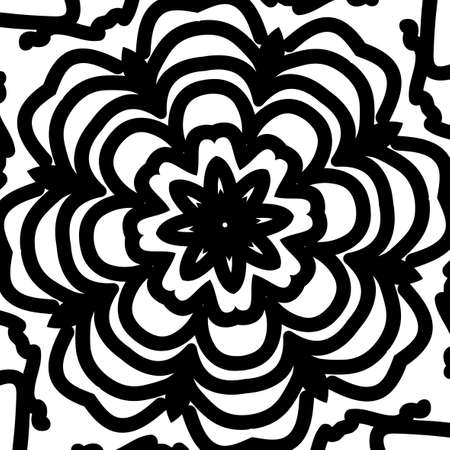 Floral mandala pattern. vector illustration. hand drawn henna india tribal paisley background Illustration