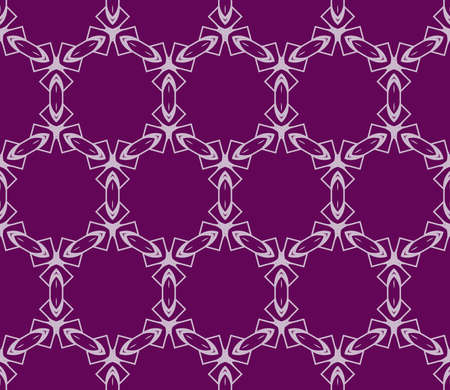 purple color decorative geometric seamless pattern. vector. for fabric print, wallpaper Иллюстрация