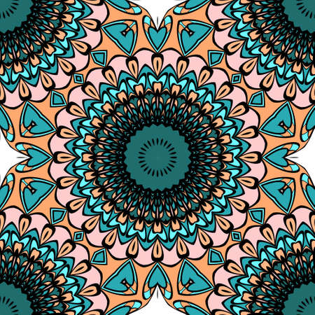 decorative seamless background with floral theme. vector illustration 向量圖像