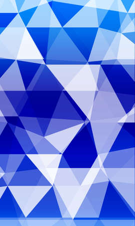 blue background image from the polygonal elements.   Vector illustration.