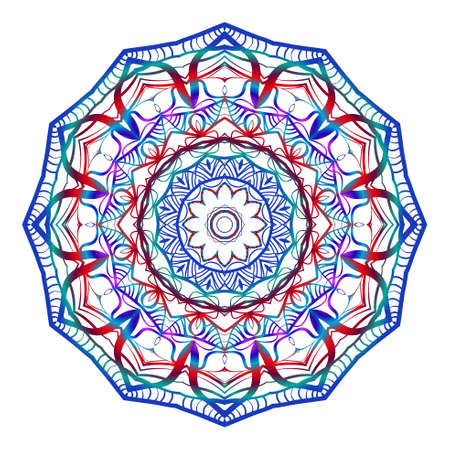 Hand drawn decorative mandala design. Vector round pattern. Coloring element. Design for greeting card, invitation, tattoo.