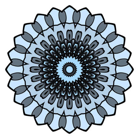 Mandala background in turquoise colors. Vintage decorative elements. Oriental pattern. Vector illustration