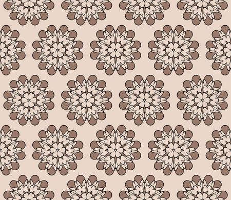Decorative geometric floral pattern Vectores